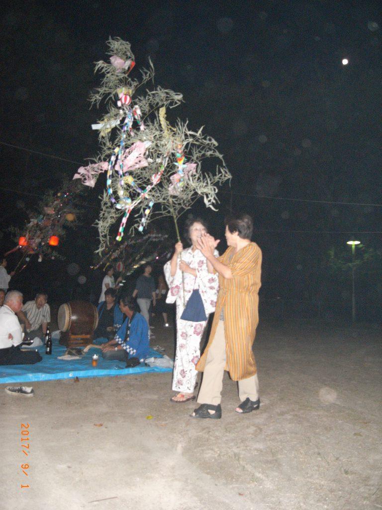 上の山古墳に建つ川北神社で「風鎮祭」