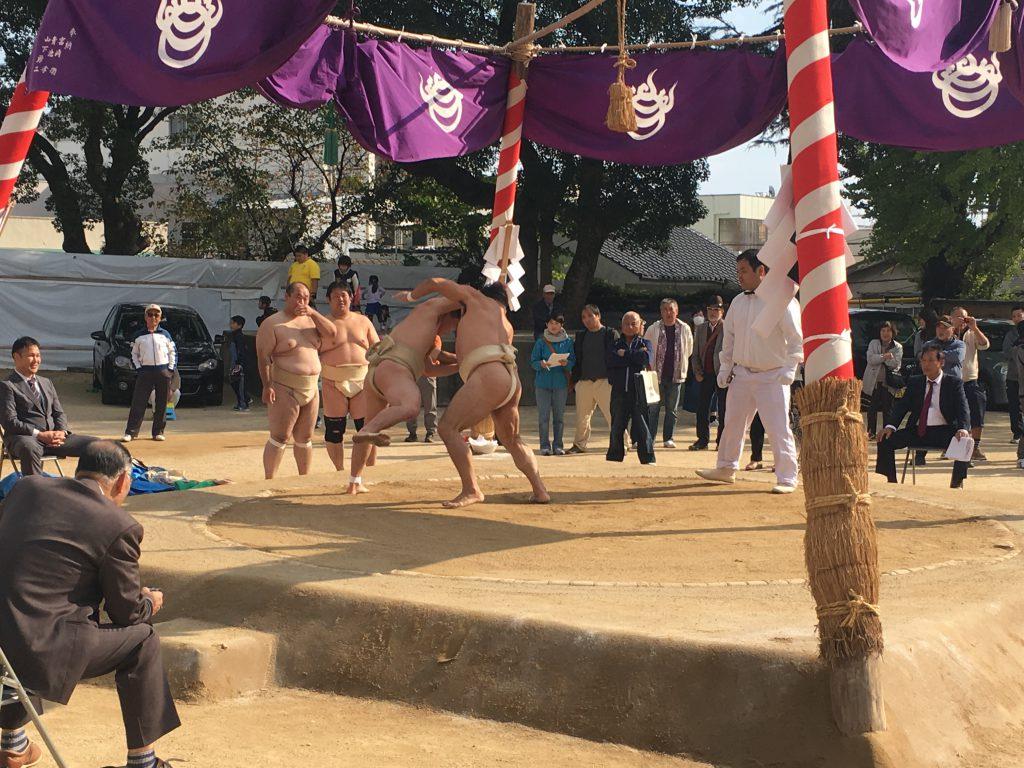 「長府の三日相撲」で秋の例大祭!