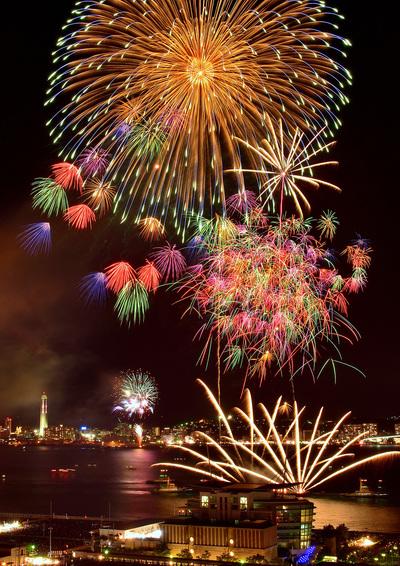13日は関門海峡花火大会(1)